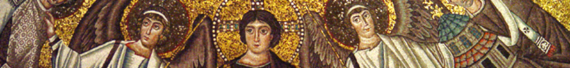 Martyr Vitale and Christ as the Judge (detail) / 521-547 (Click the picture for more information)