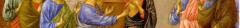 The Incredulity of Thomas / Duccio, di Buoninsegna, d. 1319 / 1308-1311 (Click the picture for more information)