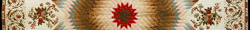 Star of Bethlehem Quilt / 1835 (Click the picture for more information)